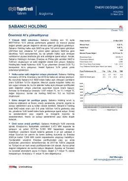 sabancı holding - Yapı Kredi Yatırım