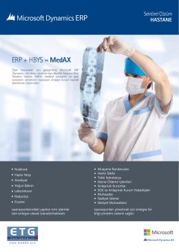 MedAX - Ürün Tanıtım Broşürü
