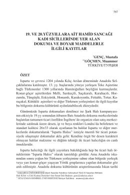 GENÇ, Mustafa – GÖÇMEN, Muammer-19. VE 20
