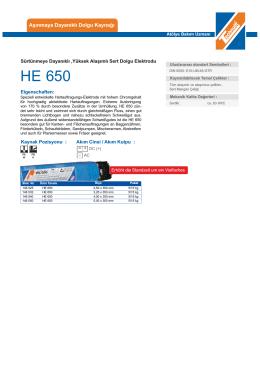 HE 650 - teknolit.com.tr