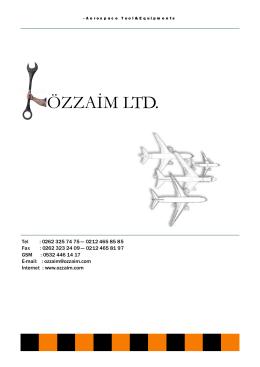 Ürün Kataloğu İçin Tıklayınız - Özzaim Ticaret Limited Şirketi