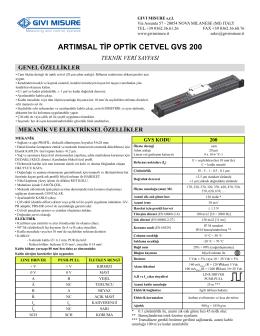 GVS200 GIVI - Bilko | Bilgisayar Otomasyon ve Kontrol A.Ş.