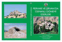 pervari ve Şirvan osmanlı dönemi eserleri