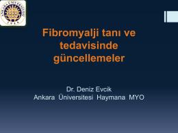 Fibromyalji tanı ve tedavisinde güncellemeler