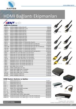 HDMI Bağlantı Ekipmanları
