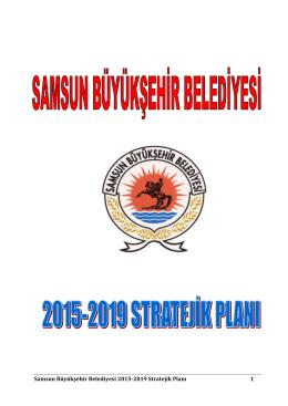 2015 - 2019 Stratejik Plan - Samsun Büyükşehir Belediyesi