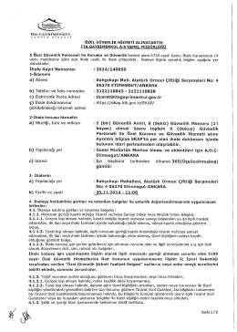 İhale Kayıt Numarası a) Adresi b ) Telefon ve faks numarası c