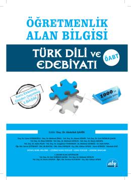 Turk Dili ve Edebiyati.indb