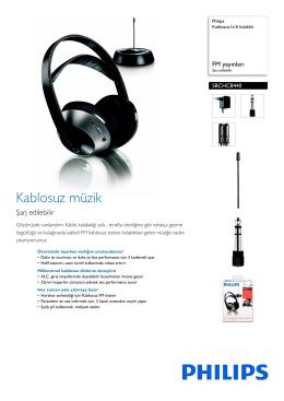 SBCHC8440/00 Philips Kablosuz hi