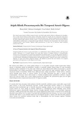 Atipik Klinik Prezentasyonlu Bir Temporal Arterit Olgusu