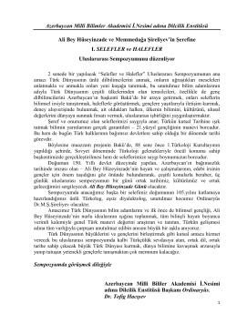 Azerbaycan Milli Bilimler Akademisi İ.Nesimi adına Dilcilik Enstitüsü