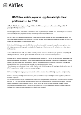 HD Video, müzik, oyun ve uygulamalar için ideal performans : Air 5760