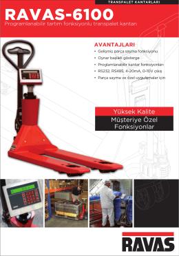 RAVAS-6100 - BAYKON Endüstriyel Tartım Sistemleri