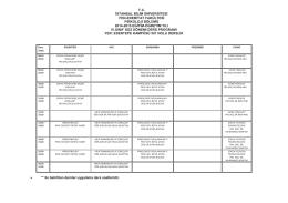 IV. Sınıf Haftalık Ders Programı