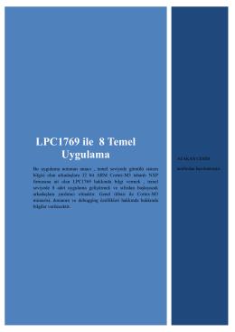 LPC1769 ile 8 Temel Uygulama