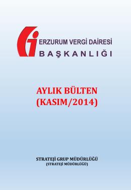 aylık bülten (kasım 2014) - erzurum vergi dairesi başkanlığı