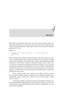 Bölüm 04 : Ruby Metotları
