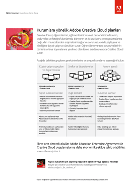 Kurumlara yönelik Adobe Creative Cloud planları