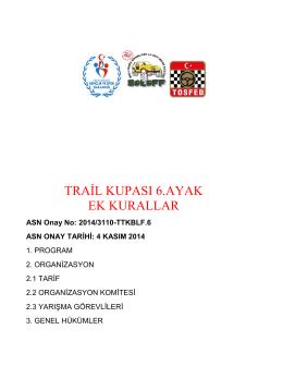 yönetmelik - 2014 TOSFED TRİAL Kupası