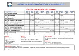 Kurs Programını PDF Olarak İndirmek İçin Tıklayınız