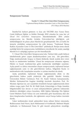 Sempozyum Tanıtımı - Mardin Artuklu Üniversitesi