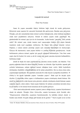 Prof Dr Ömer Naci Soykan: Sanat ve Yaşam
