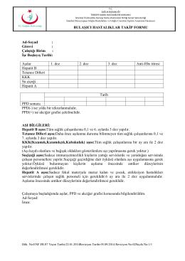 Bulaşıcı Hastalıklar Takip Formu
