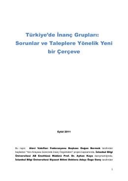 Rapor - İstanbul Bilgi Üniversitesi