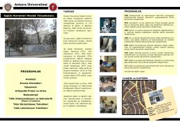 Okul Tanıtım Broşürü-2014 - Sağlık Hizmetleri Meslek Yüksekokulu