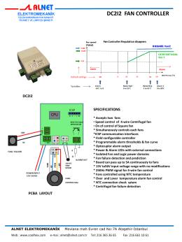dc2ı2 fan controller - Alnet Elektromekanik