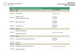 İller Bankası A.Ş. Kentsel Atık Yönetimi Eğitim Programı