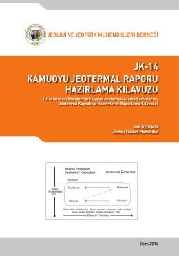 jk-14 kamuoyu jeotermal raporu hazırlama kılavuzu
