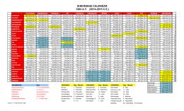 Shahanshahi Calendar 2014-2015