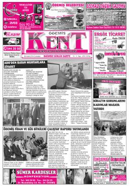 06-12-2014 Tarihli Kent Gazetesi
