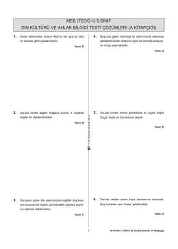2014-2015 DİN cozum.qxp - Fen Bilimleri Dershanesi