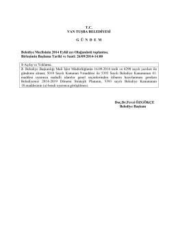 Meclis Gündemi - tuşba belediyesi ocak ayı meclis toplantısı başladı
