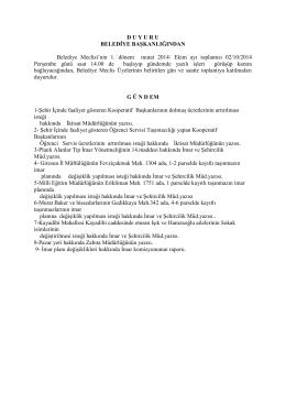 02.10.2014 TARÄ°HLÄ° MECLÄ°S KARARÄ°