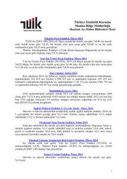 2014 Haziran Ayı Haber Bülteni Özeti