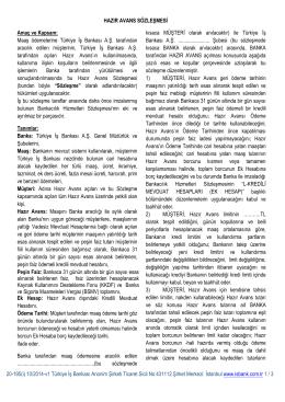Hazır Avans - Türkiye İş Bankası