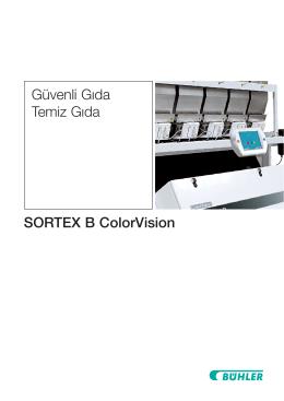 SORTEX B ColorVision Güvenli Gıda Temiz Gıda