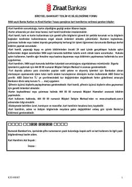 KSİ-00005-Bireysel Bankkart Sözleşmesi