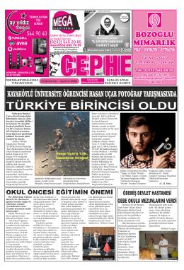 09.09.2014 Tarihli Cephe Gazetesi