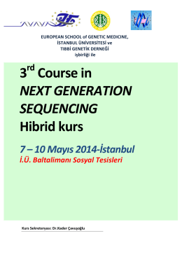 3 Course in NEXT GENERATION SEQUENCING Hibrid kurs