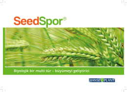 Brochure Seedspor - Turkish.indd