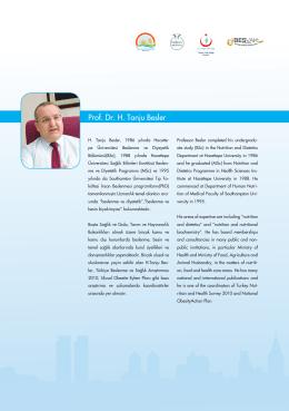 Prof. Dr. H. Tanju Besler - İstanbul Sağlık ve Beslenme Bienali