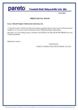 sırk-15-07 mükellef bilgileri bildiriminin kaldırılması hk