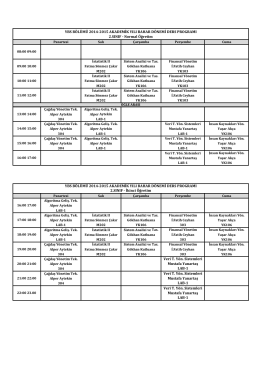 YBS 2014-2015 Ders Programı.xlsx
