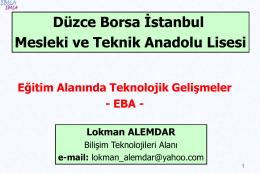 Düzce Borsa İstanbul Mesleki ve Teknik Anadolu Lisesi