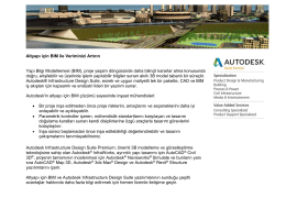 Altyapı için BIM ile Veriminizi Artırın Yapı Bilgi Modellemesi (BIM