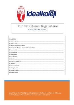 K12 Net Öğrenci Bilgi Sistemi